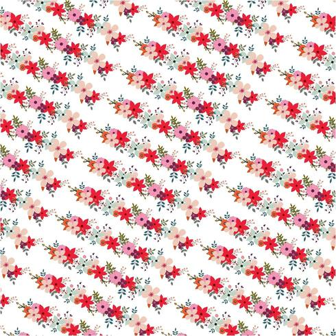 Diagonales Blumenmuster vektor
