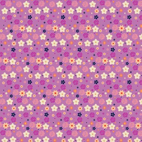 lila und gelbes Blumenhintergrunddesign vektor