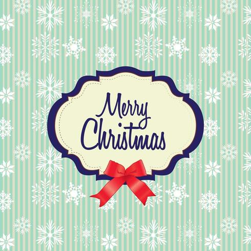 Frohe Weihnachten-Karte mit Schneeflocke Muster vektor