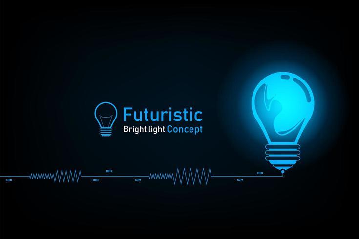 Abstrakt futuristiskt starkt ljusbegrepp vektor