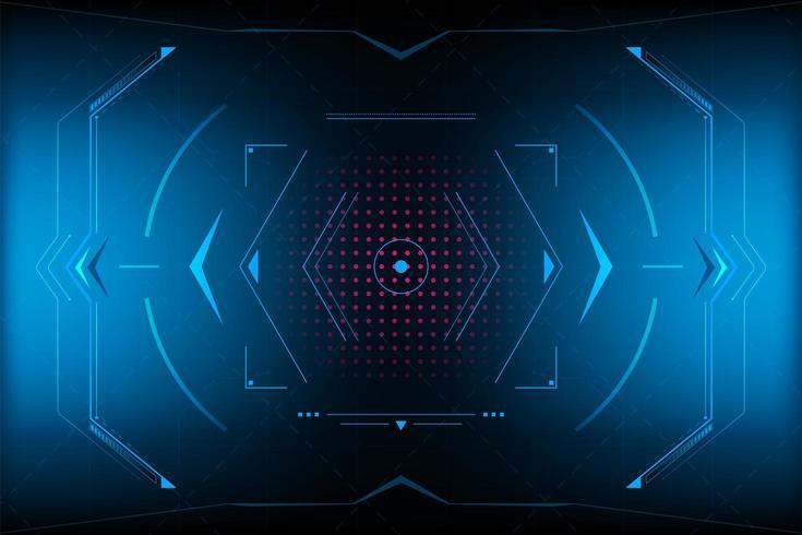 Abstraktes futuristisches Dreieck HUD Vektor und Illustration