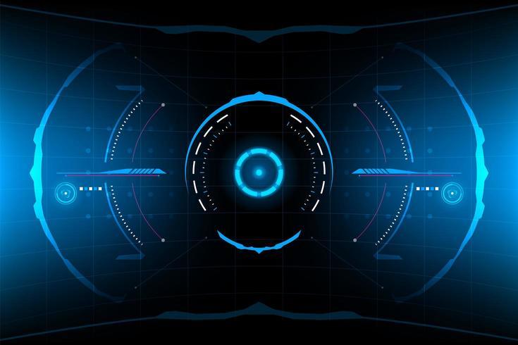 Abstrakt futuristisk rund HUD vektor