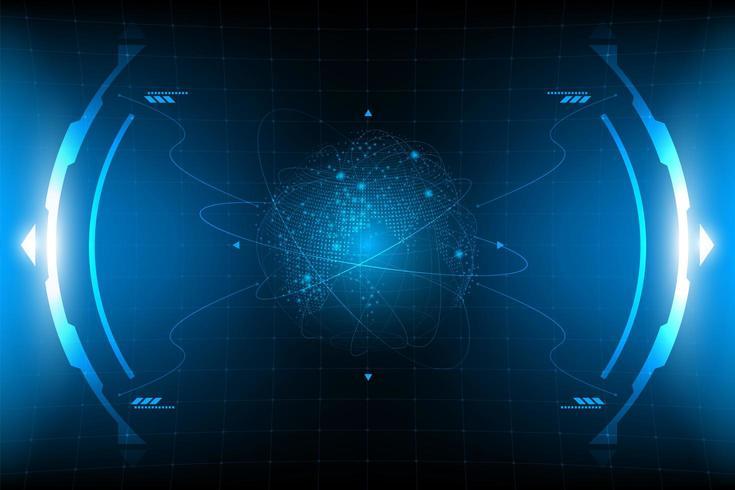 HUD Panel VR Benutzeroberfläche vektor