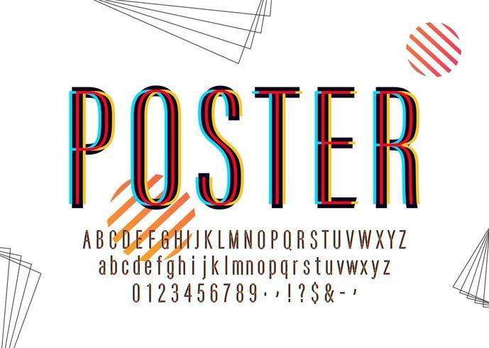 Modernes farbiges Plakat-Alphabet vektor