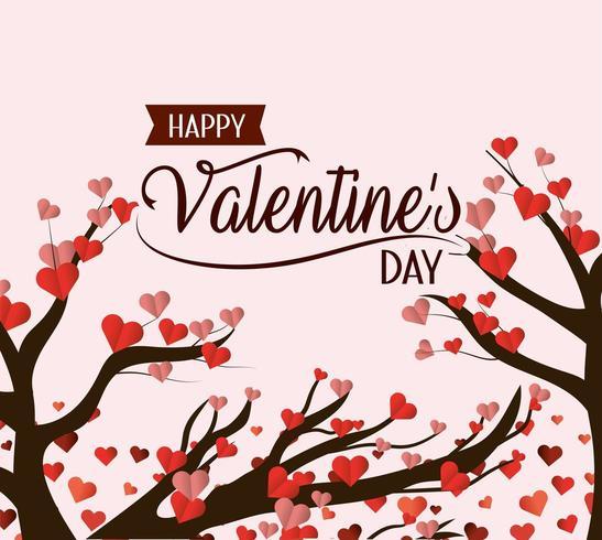 Happy Valentinstag-Karte vektor