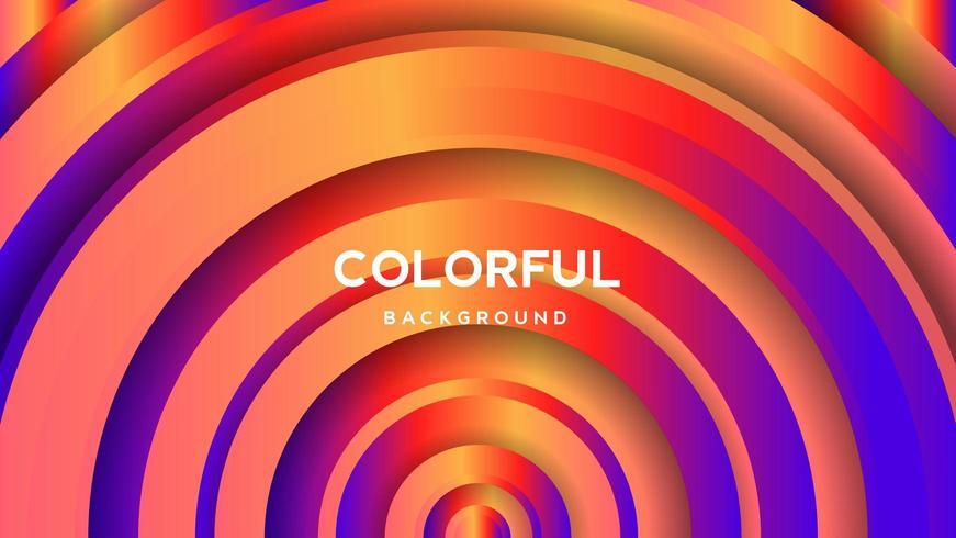 Färgglad abstrakt bakgrund för cirkelgradient vektor