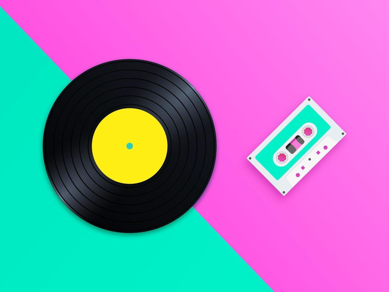 Old School Music Pop Vector Bakgrund