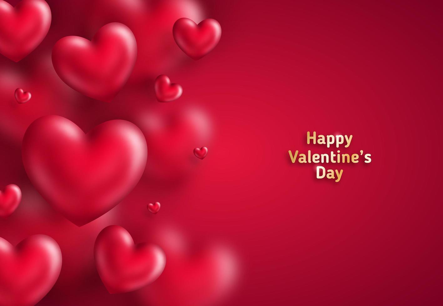Viele Herzen auf rot vektor