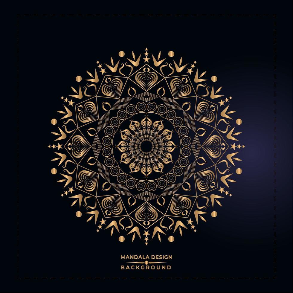 Goldener Mandala-Entwurf vektor