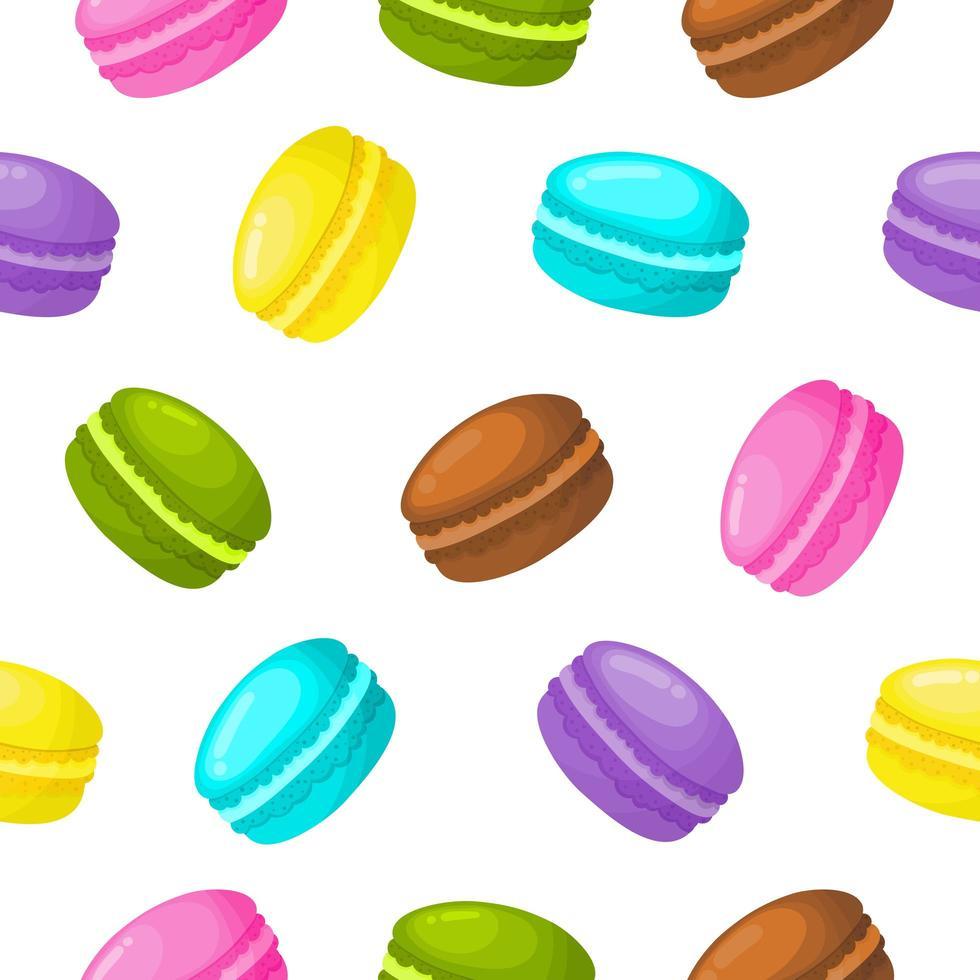 süße süße Makronen nahtlose Muster vektor