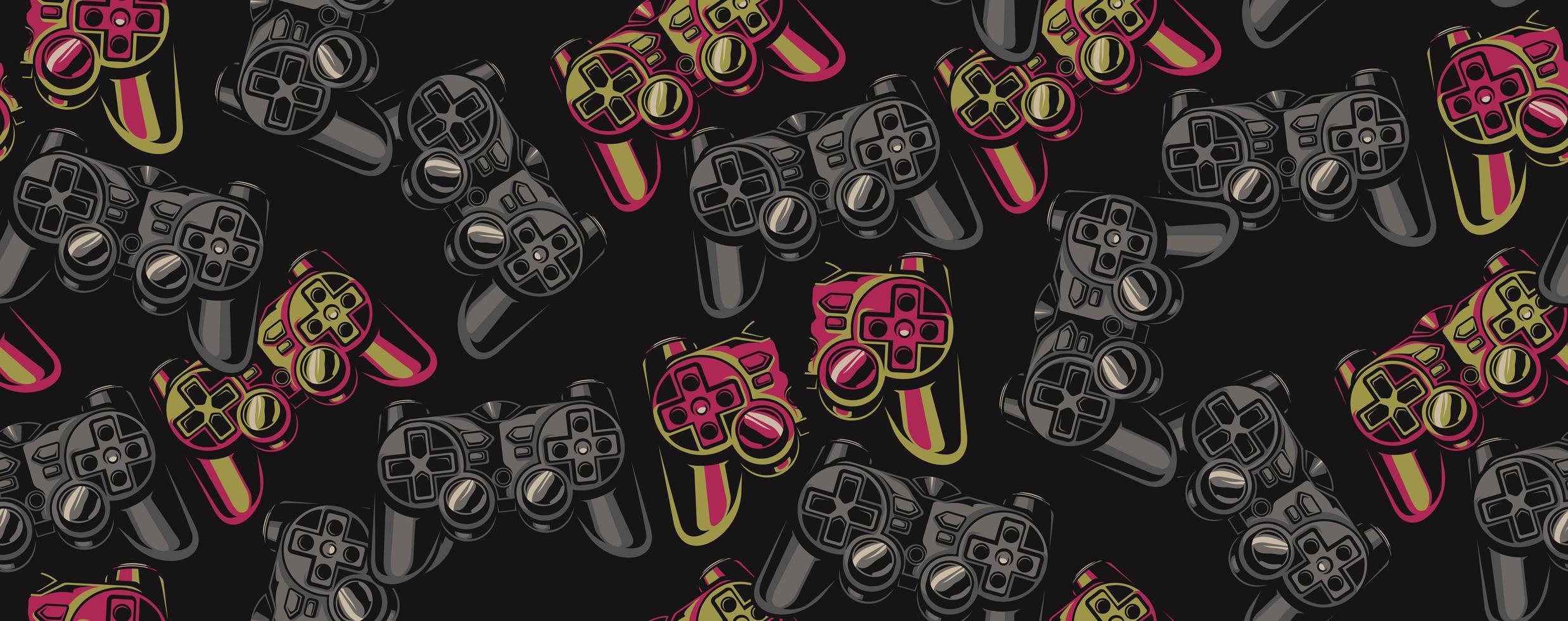 Färg sömlösa mönster på ett spel tema vektor