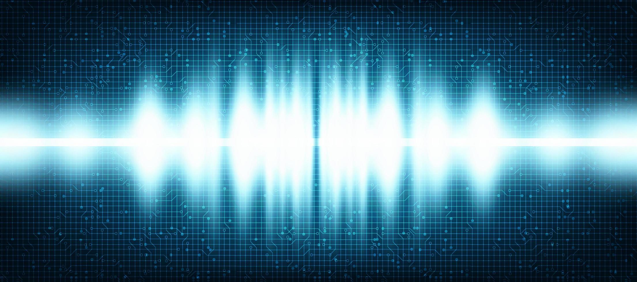 Ljus Digital ljudvåg på teknologibakgrund. vektor