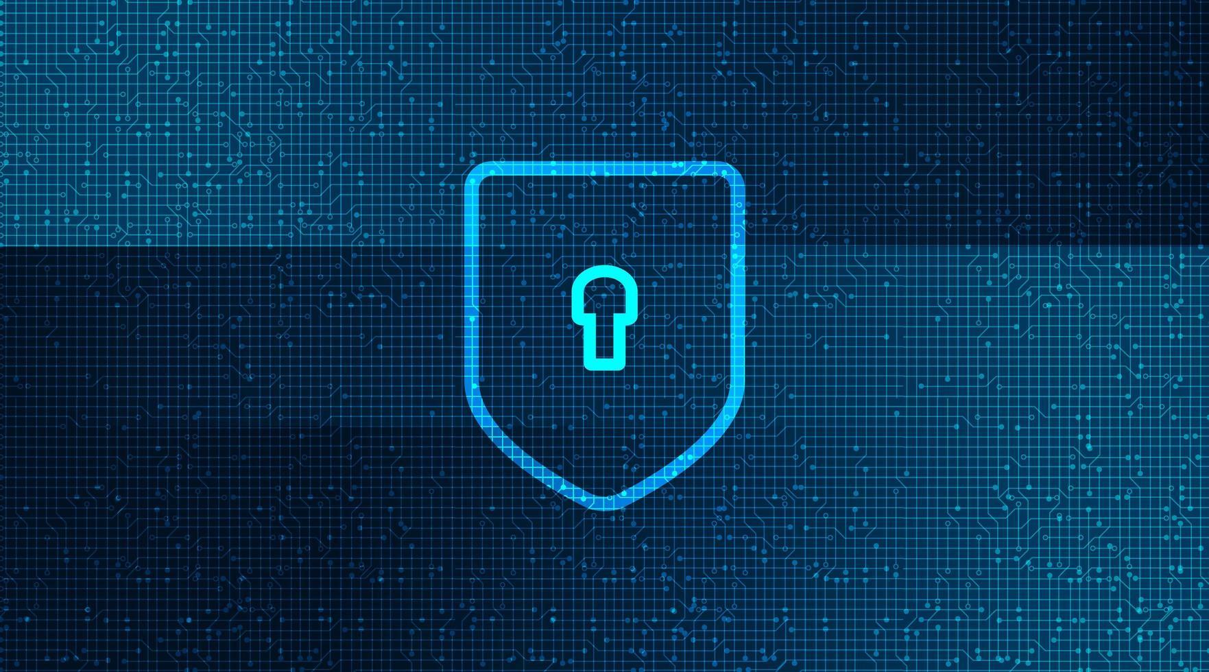 Säkerhetsbakgrund för digital teknologi. vektor