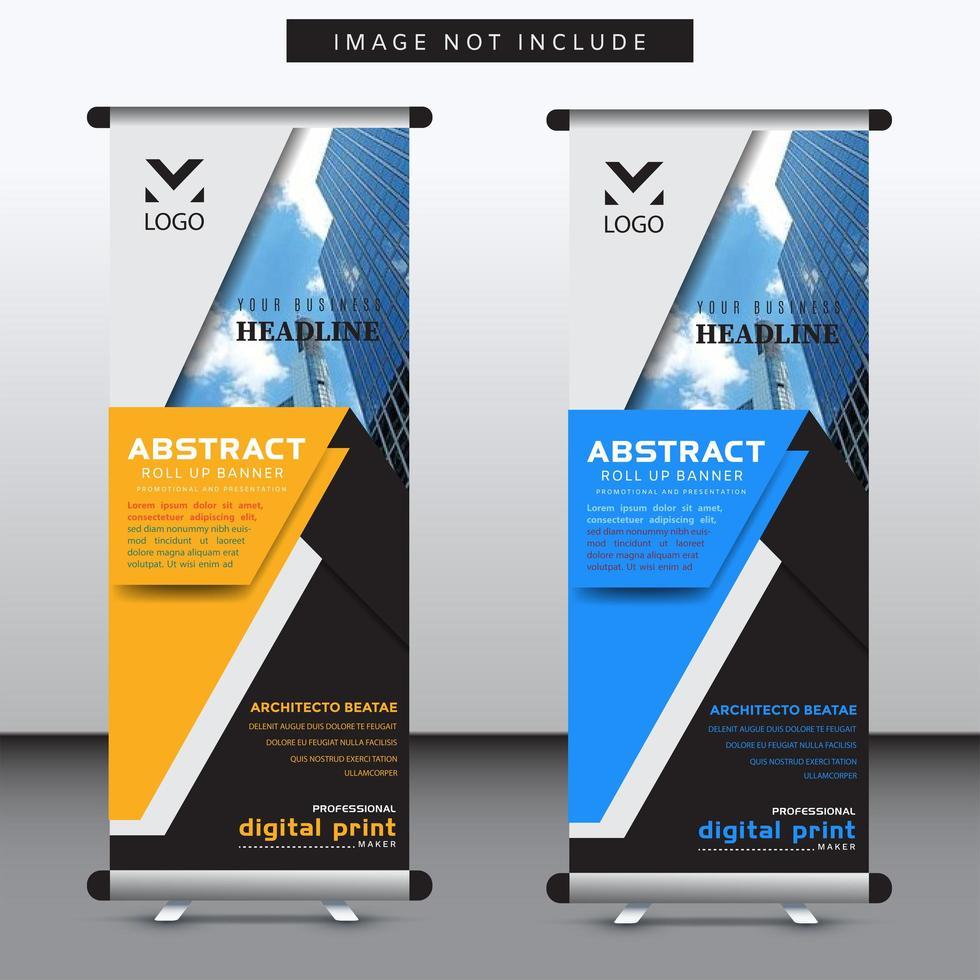 vertikale geschichtete geometrische Form Banner Vorlage vektor