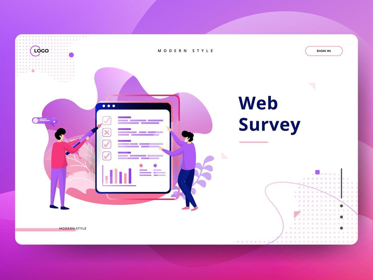 Målsidans webbundersökning vektor