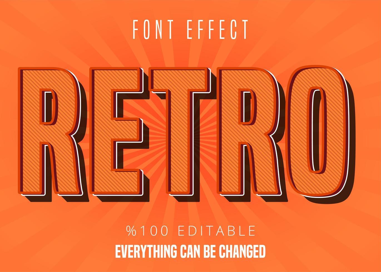 Retro-Muster-Font-Effekt vektor