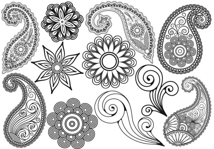 Paisley Vector Pack Zwei