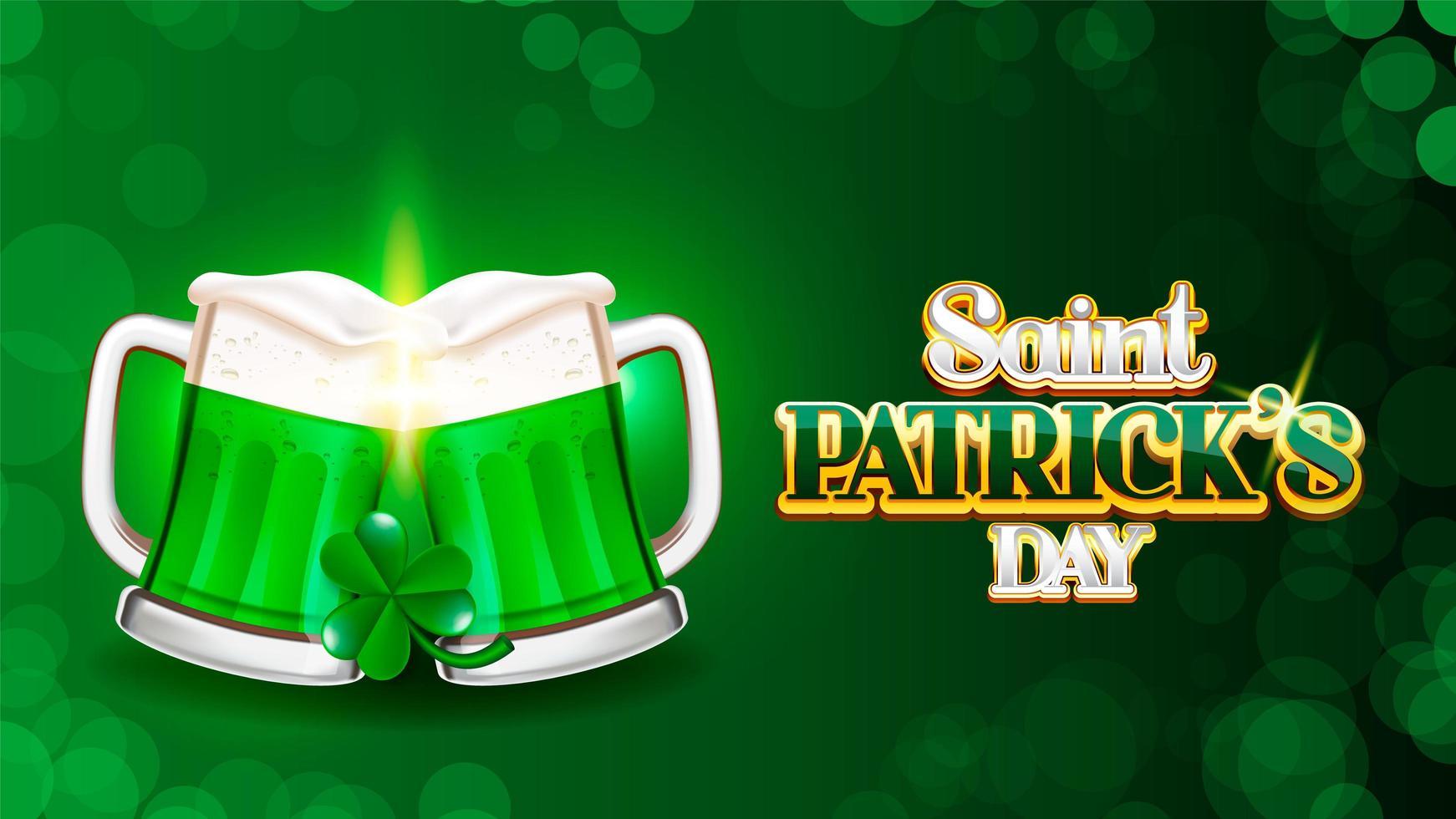 Skål på Saint Patrick's dag bokeh bakgrund vektor