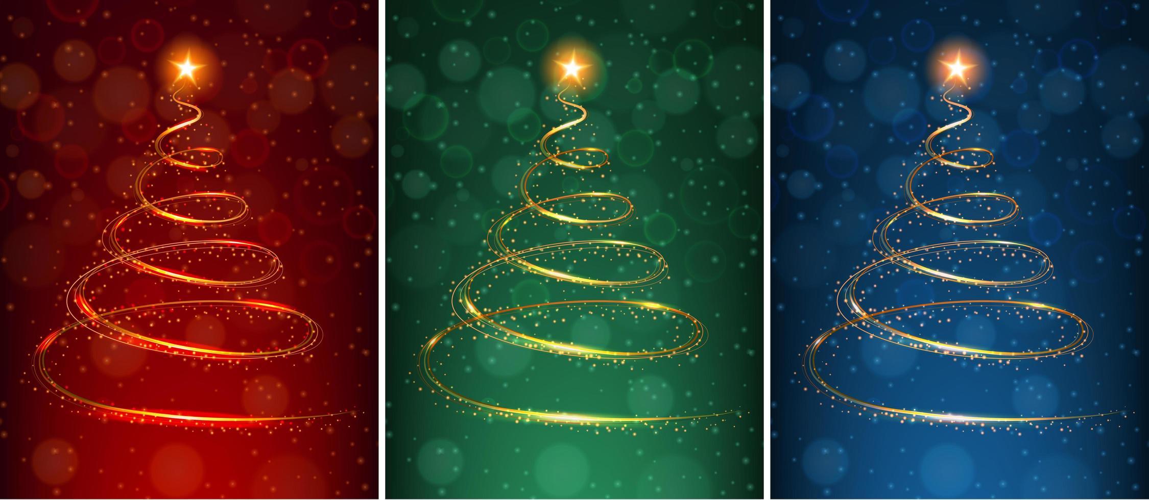 Ein Set Weihnachtszauberkarten vektor