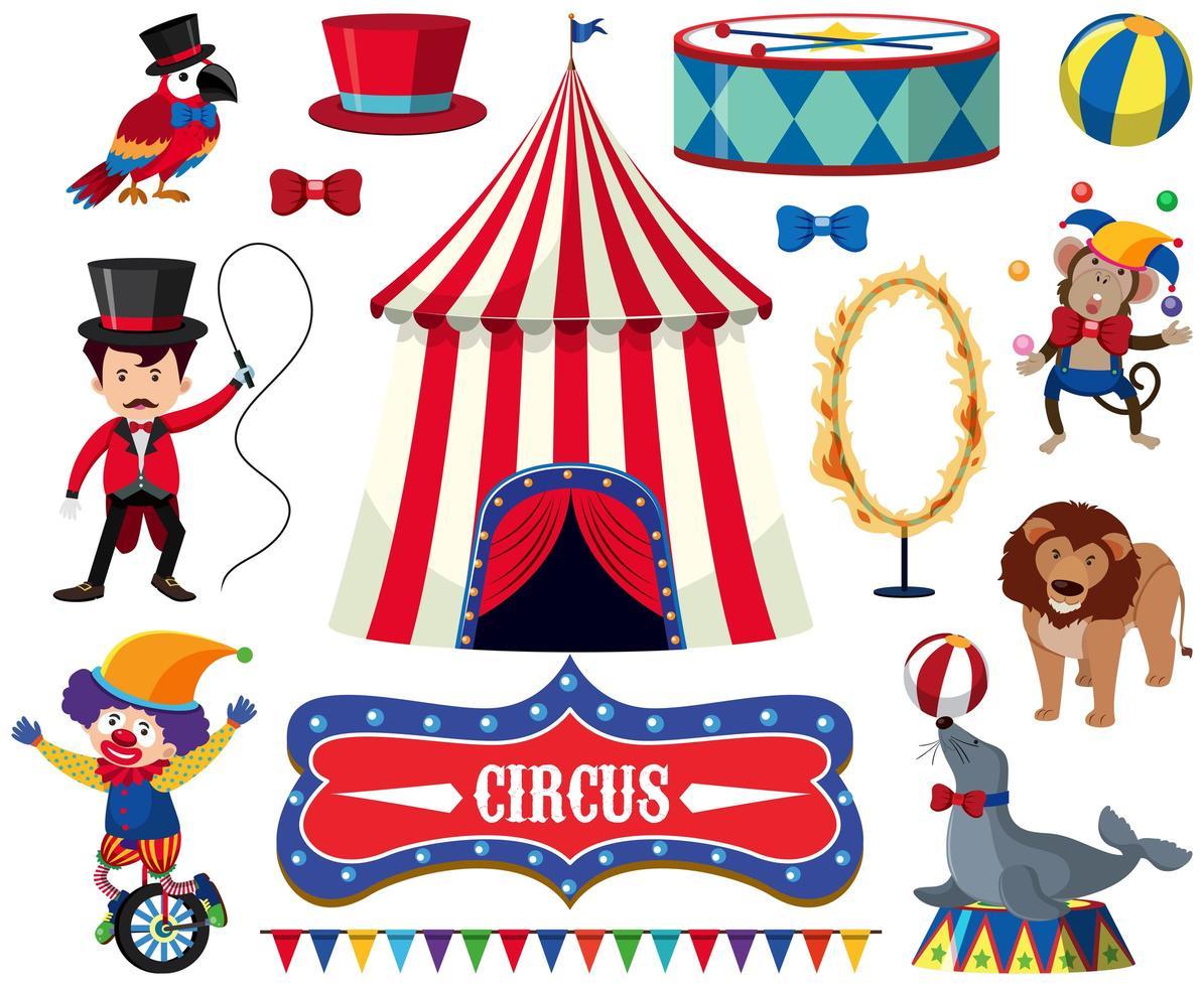 Eine Reihe von Zirkusshow vektor