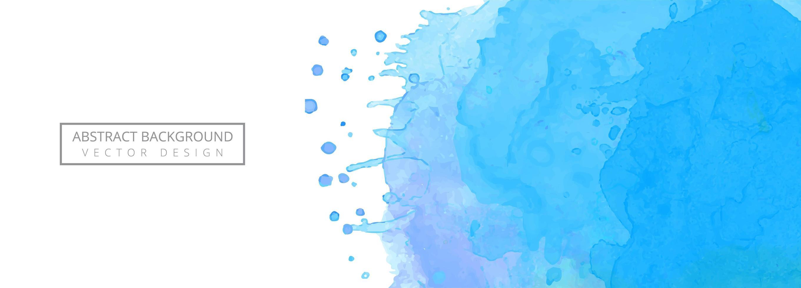 Modern blå bakgrund för akvarellfärgstänkbaner vektor