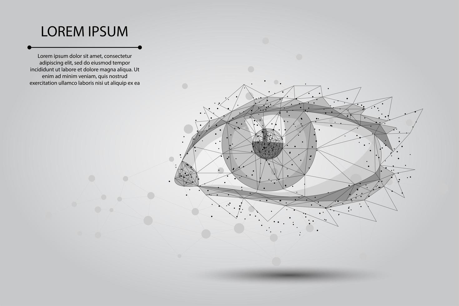 Mänskligt öga med låg poly vektor