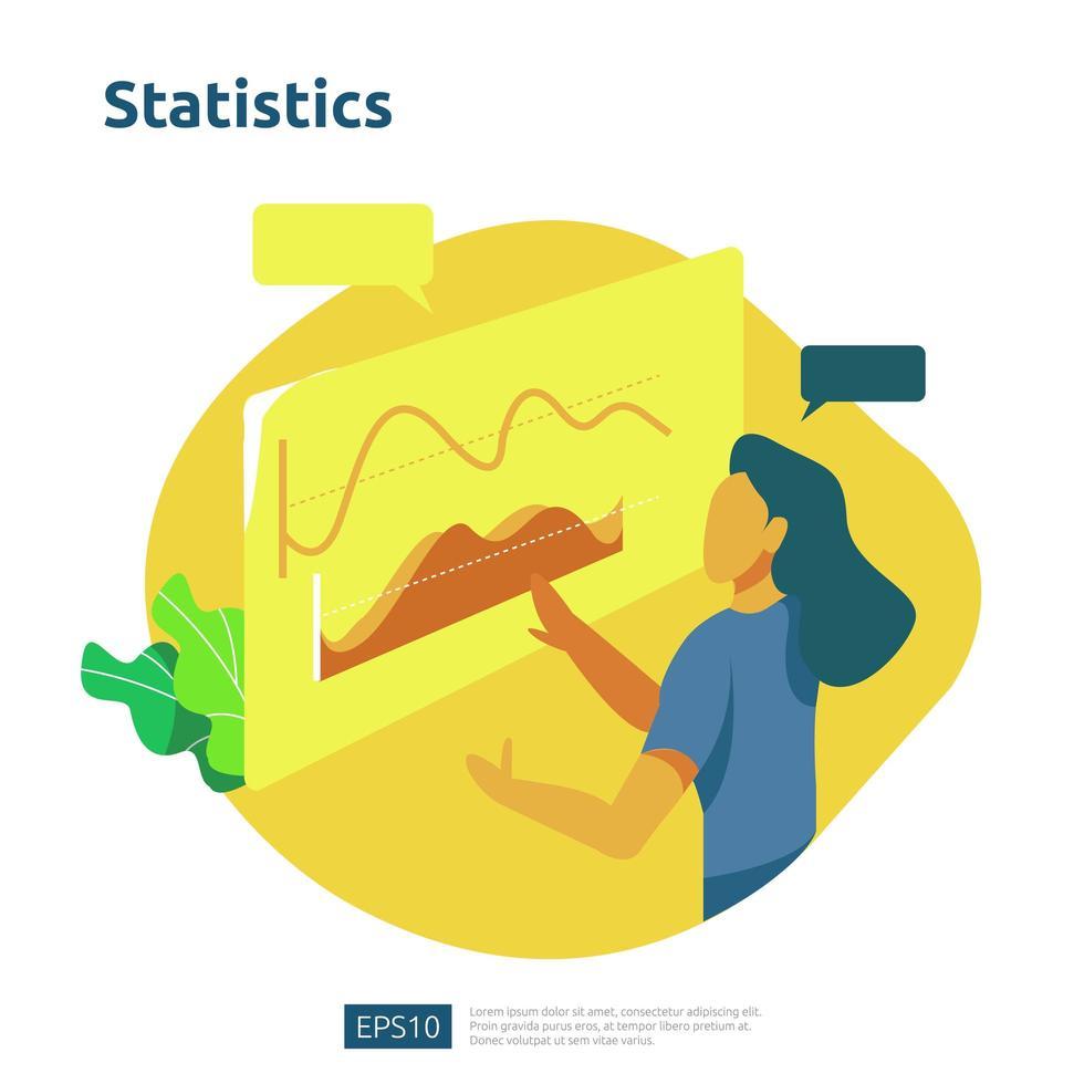 digitales Analysekonzept für die Unternehmensmarktforschung vektor