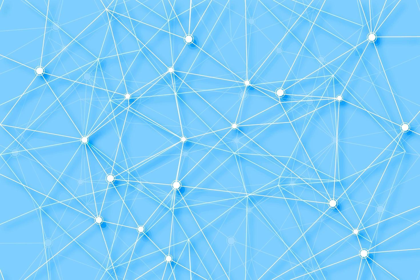 Verbindungslinien Polygon-Digitaltechnikhintergrund vektor