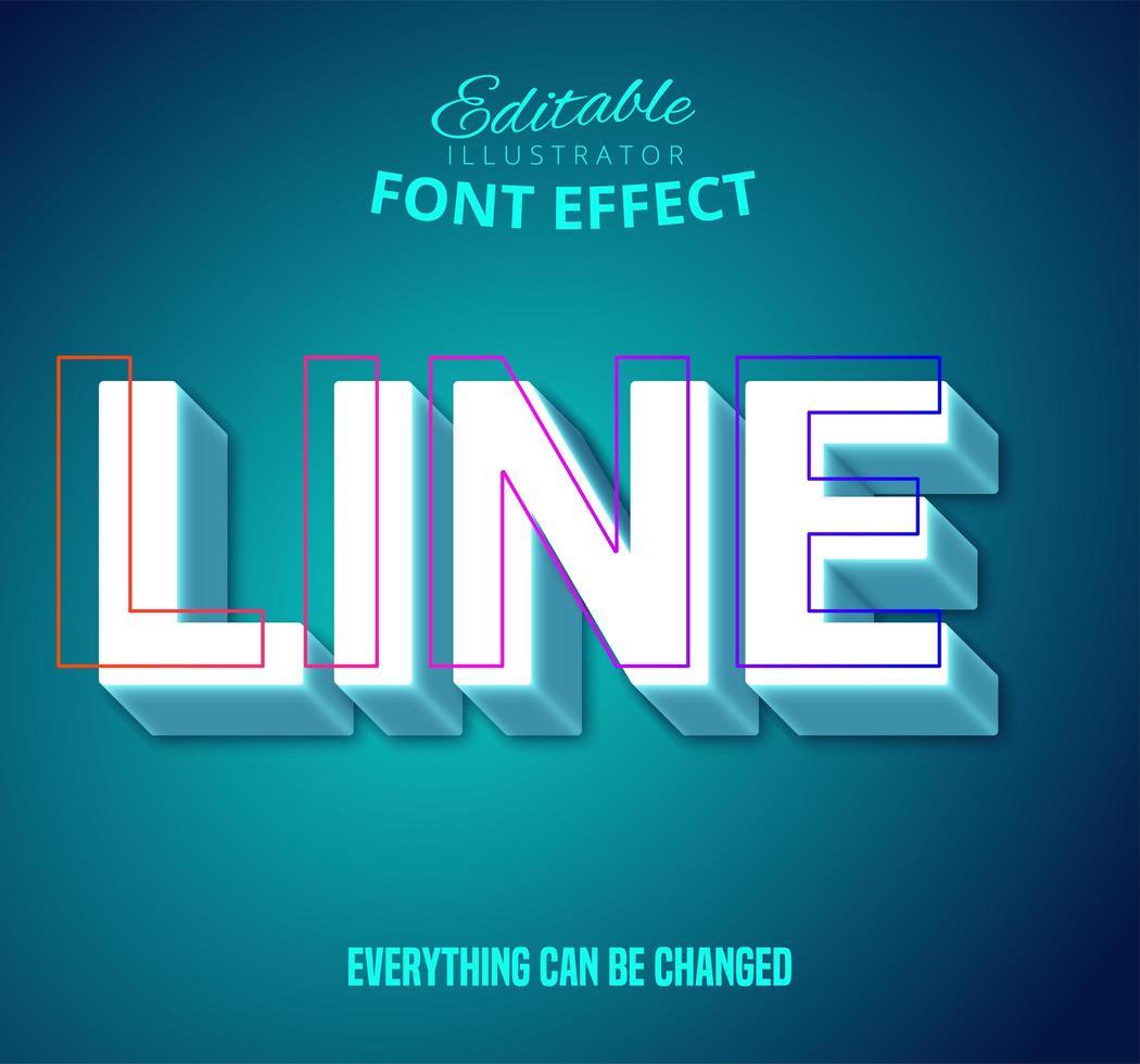 Linientext, bearbeitbarer Textstil vektor
