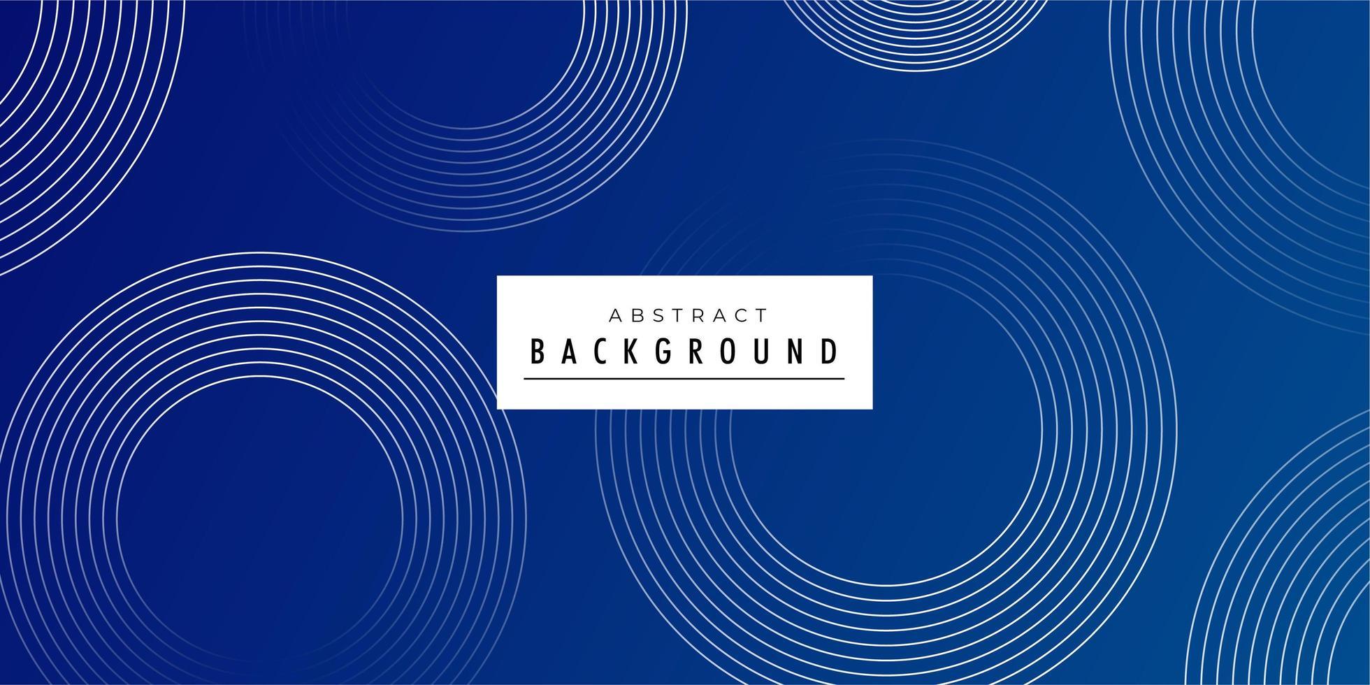 Minimaler blauer Auszug kreist Hintergrund ein vektor