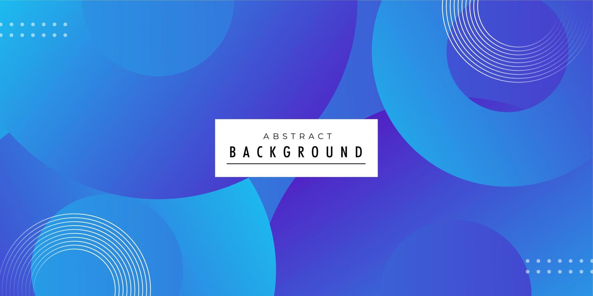Rundes geformtes modernes blaues Hintergrunddesign vektor