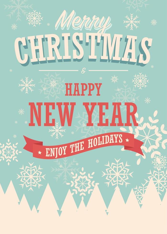 Vinterdesign för god julkort vektor