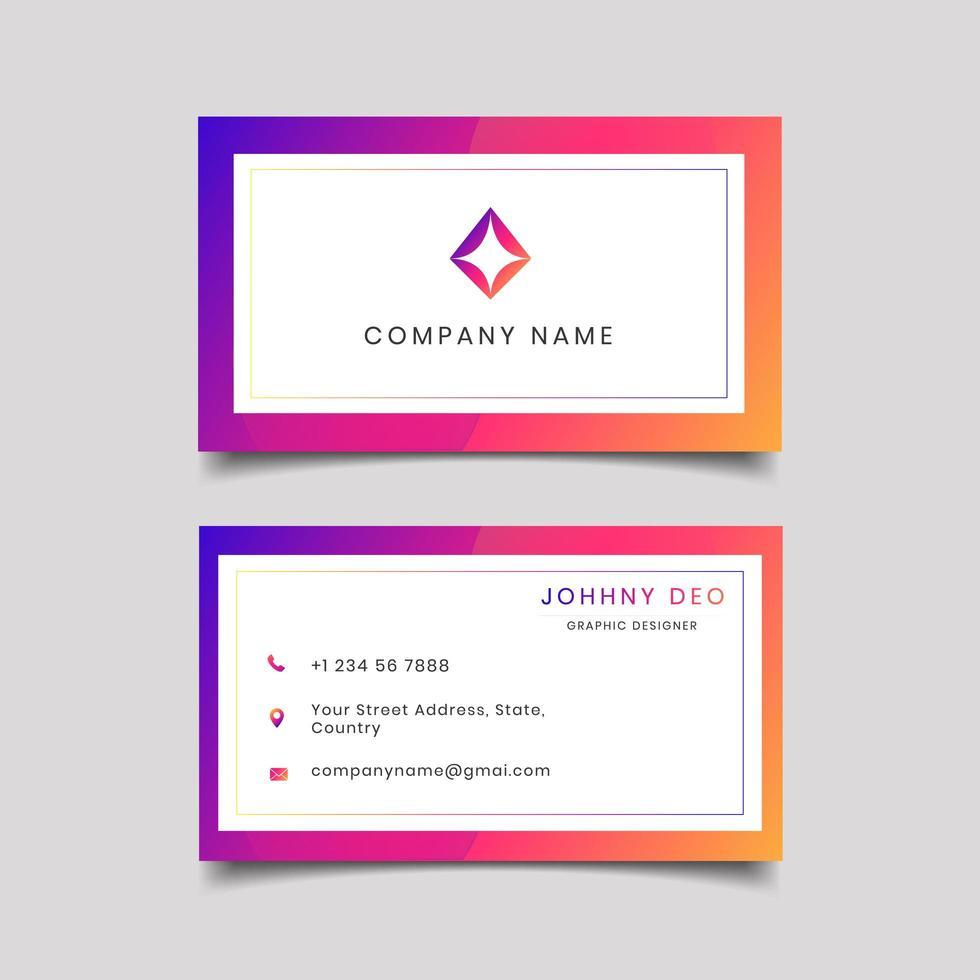 Purpurfärgad rosa färguppsättning för affärskortuppsättning vektor