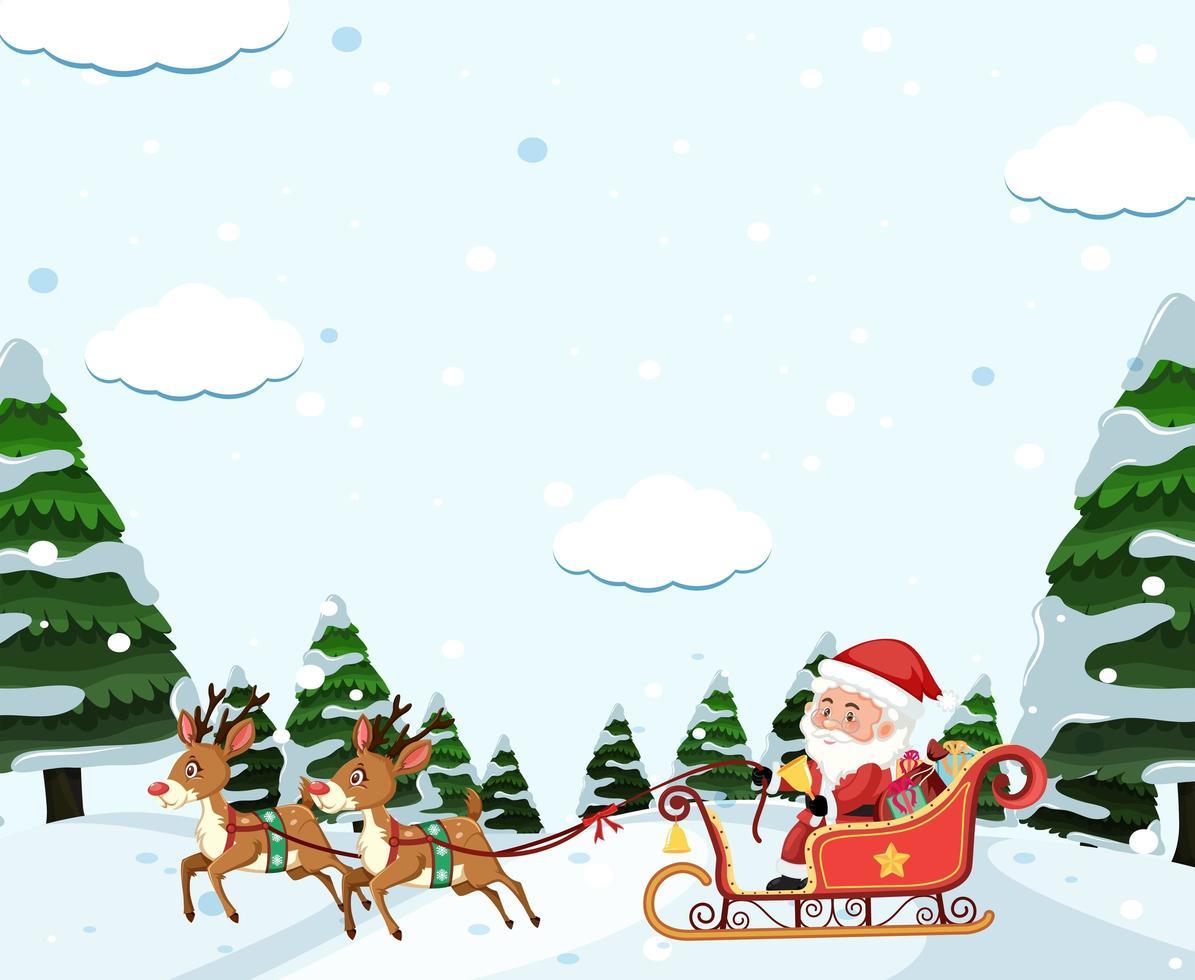 Weihnachtsmann Schlitten fahren vektor