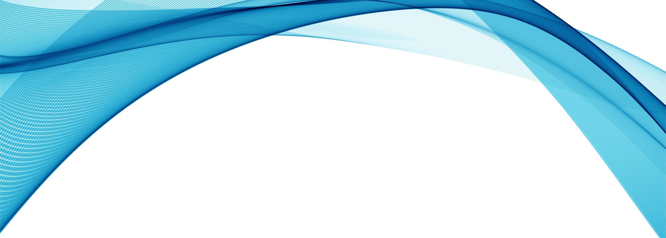 Moderner stilvoller blauer Wellenfahnenhintergrund vektor