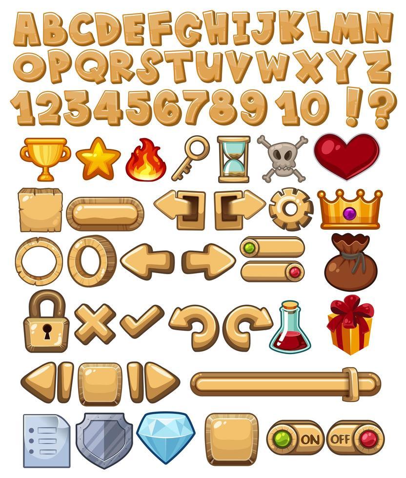 Alphabet und Spiel-Symbol vektor