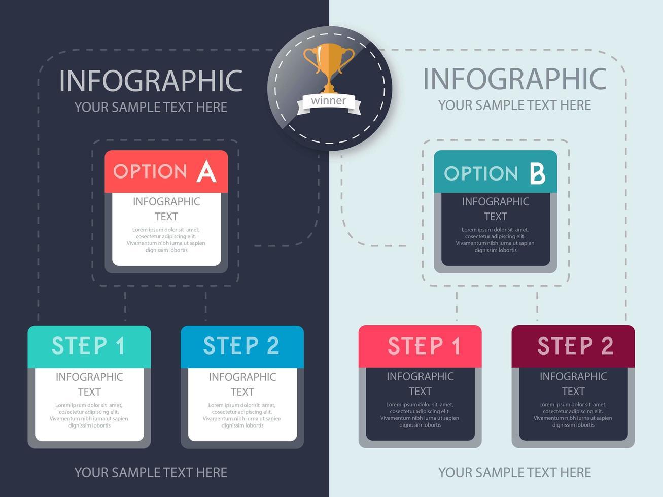 Infographik Optionen Schritt Template Design vektor