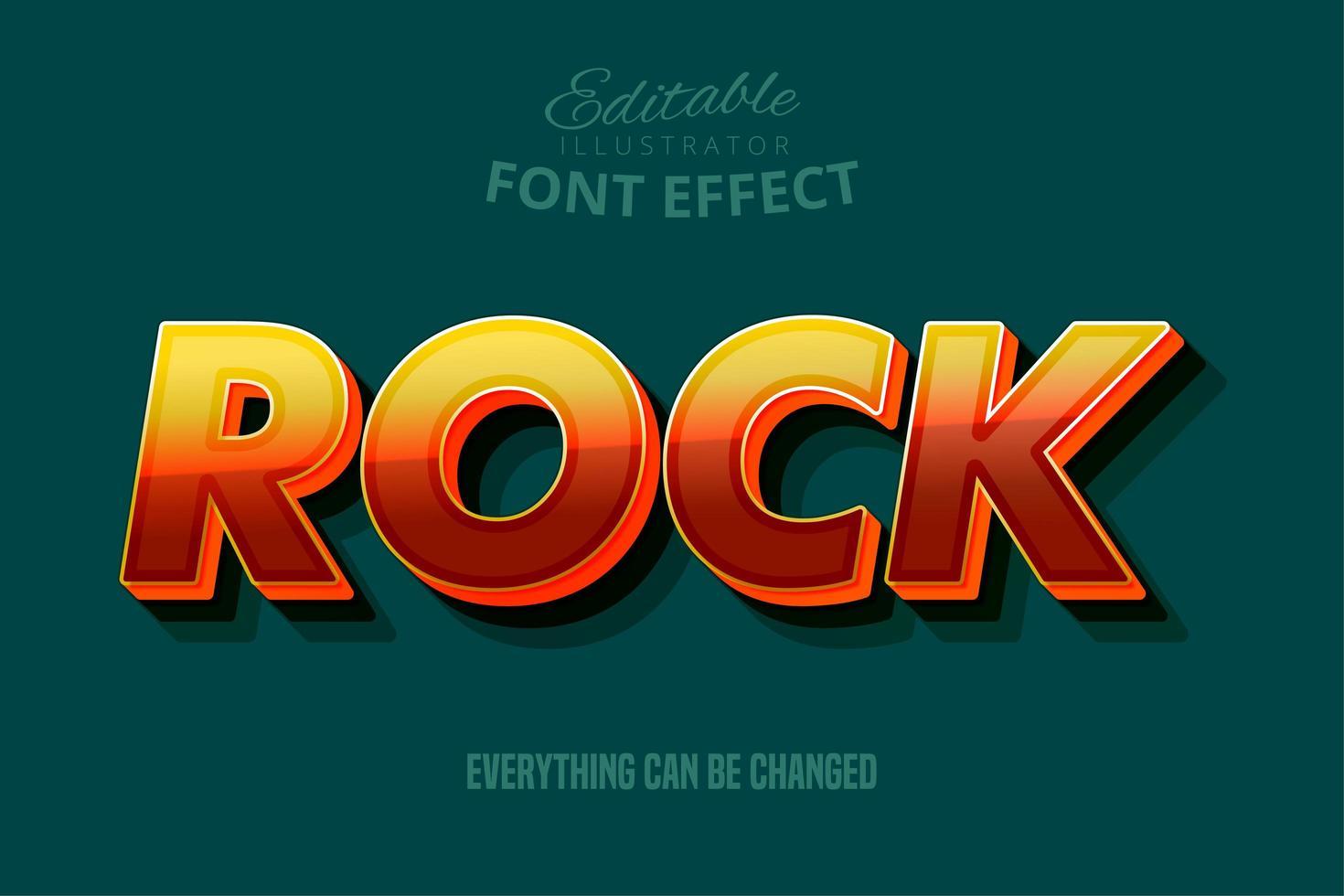 Rock-Text, bearbeitbare Textstil vektor