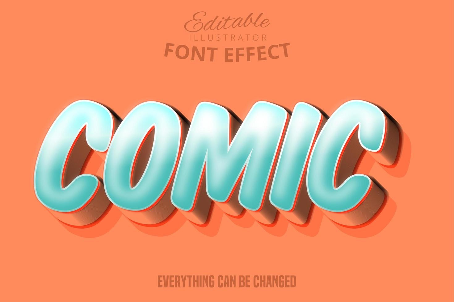 Moderner editierbarer Typografie-Gusseffekt des Comic-Skripts vektor