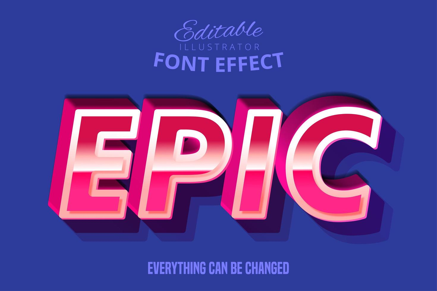 Editierbarer Typografie-Gusseffekt des modernen Retro Skriptes vektor