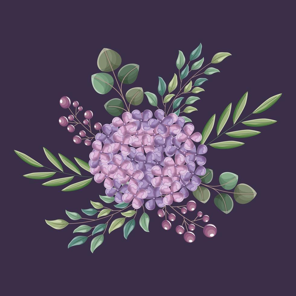 Blumenhochzeitskarte vektor