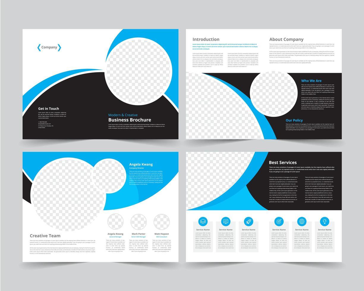 Corporate Circular Business Broschüre festgelegt vektor
