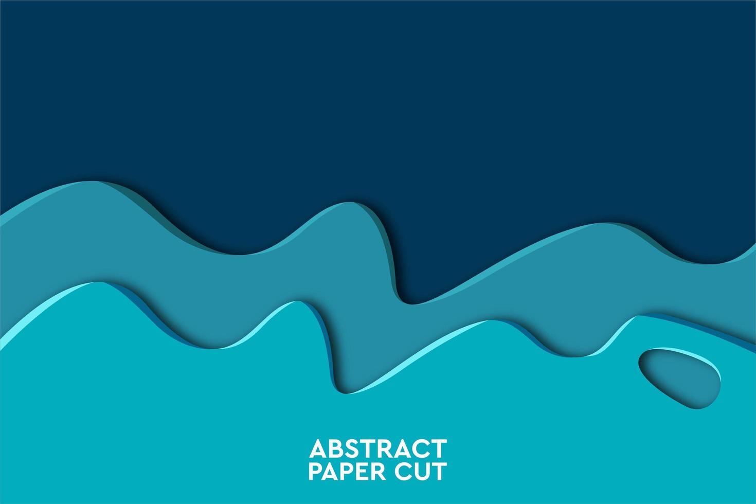Geometrischer Hintergrund der blauen Wellenzusammenfassung vektor