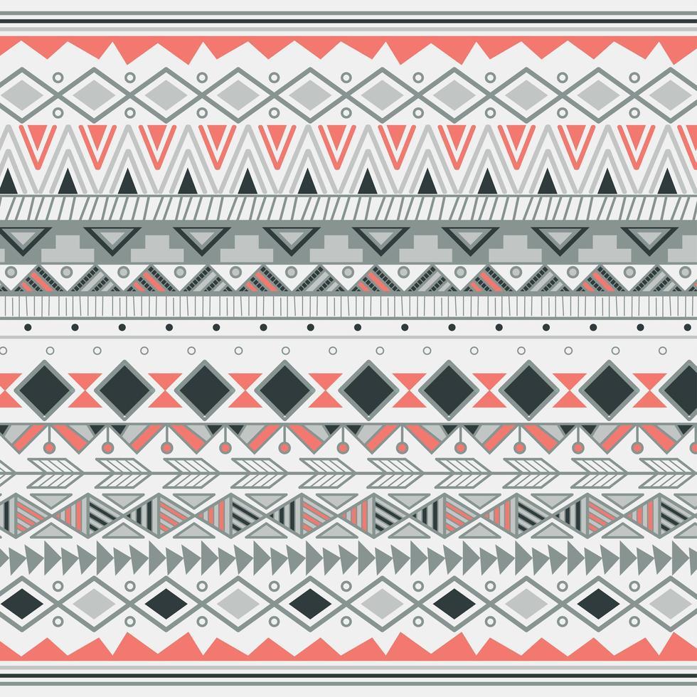 Aztec stammönster i ränder vektor