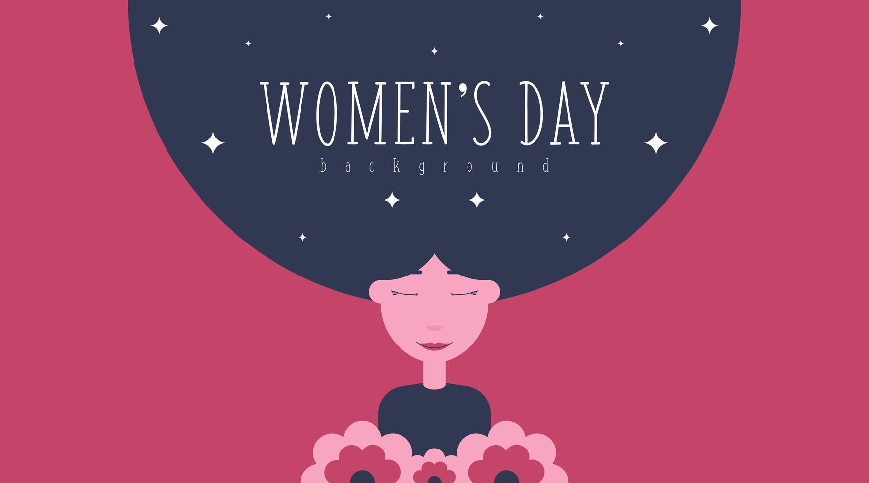 8 mars kvinnors dag bakgrundsillustration vektor