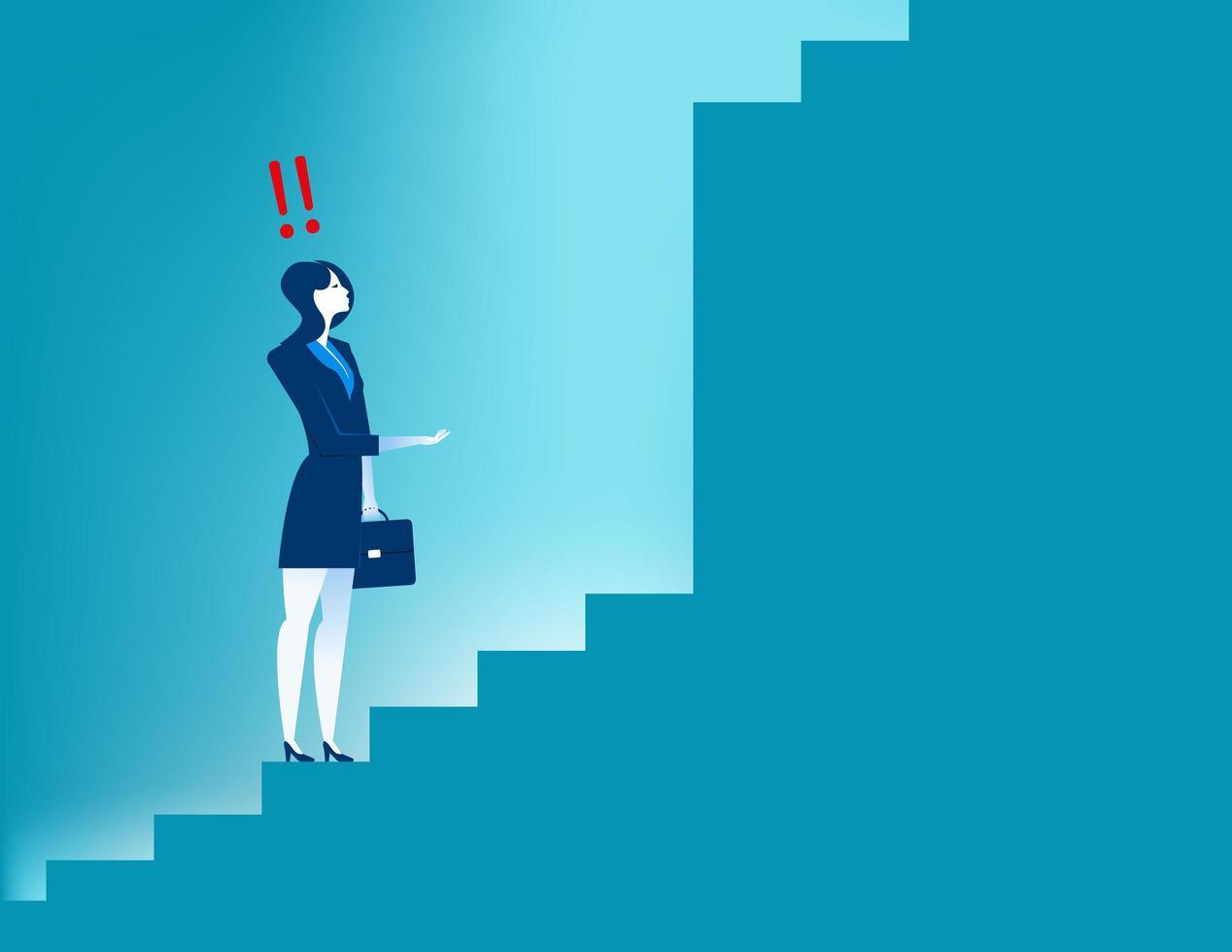 Affärs vision och strategi affärskvinna vektor