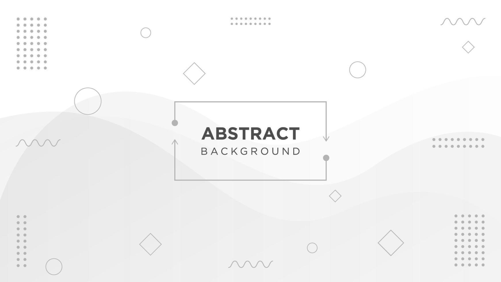 Weißer und grauer flüssiger geometrischer Hintergrund vektor