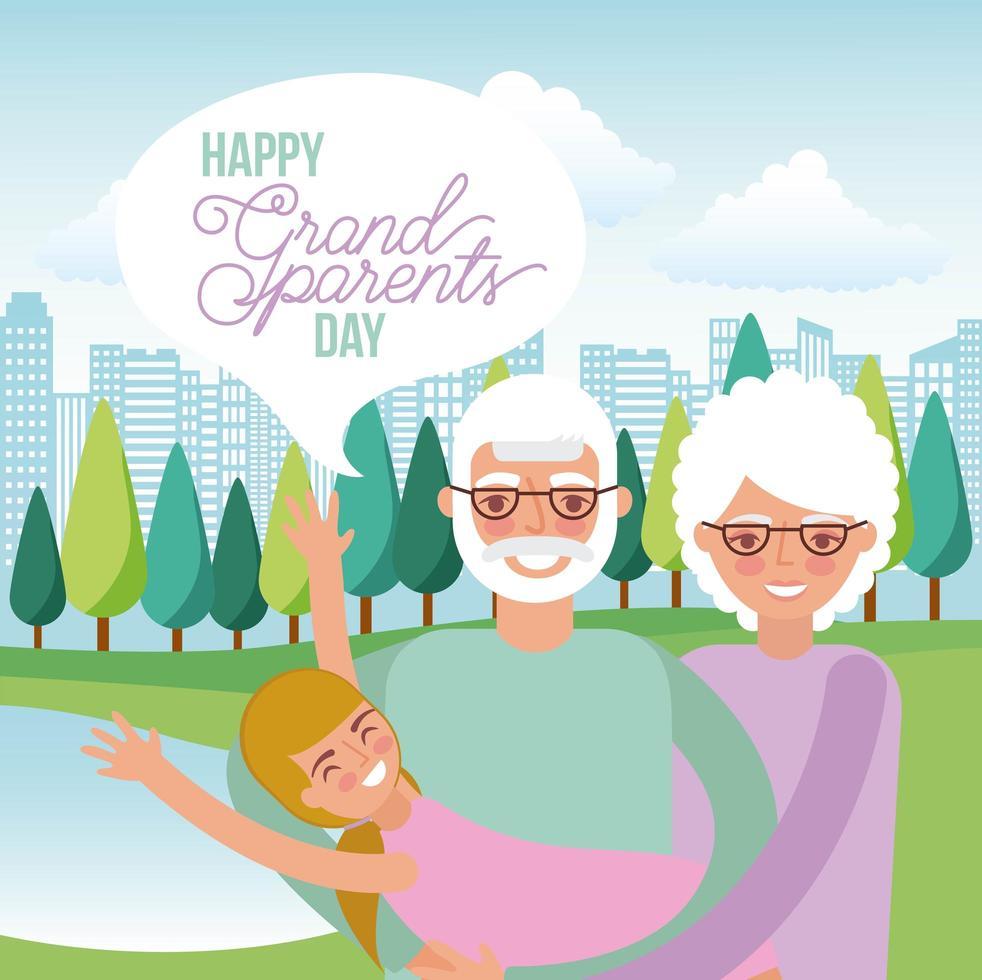 glad morföräldrar dag vektor