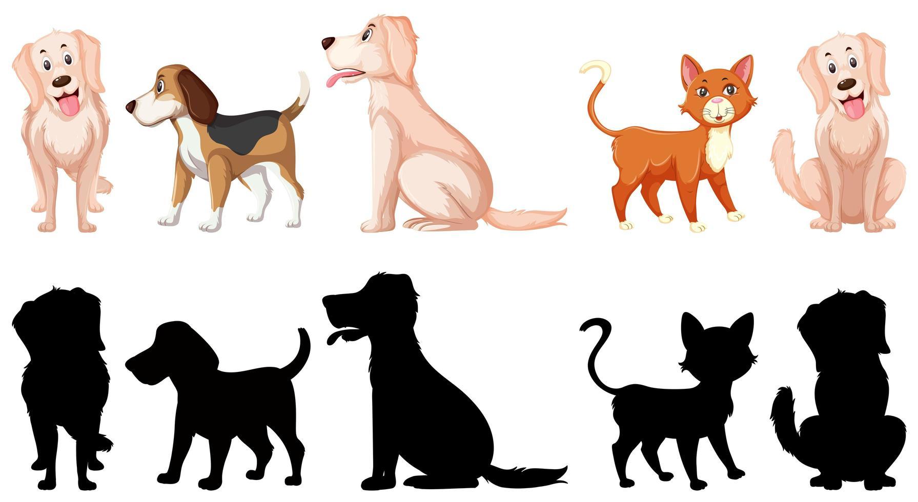 Uppsättning av djur karaktärer vektor