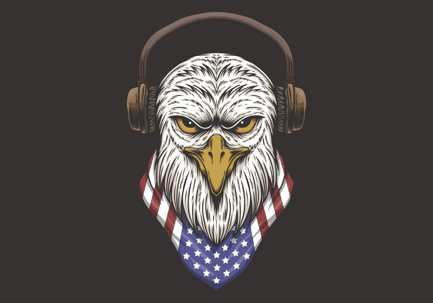 Eagle Head USA Design vektor
